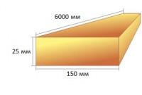 Доска обрезная 25х150х6000 ТУ